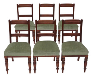 Antique quality set of 6 Victorian walnut dining chairs