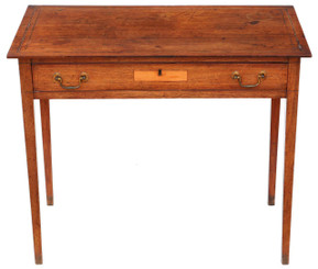 Antique quality george III C1810 inlaid mahogany desk or writing table