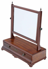 Antique Regency mahogany dressing table swing mirror toilet C1825