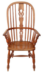 Antique Victorian C1840 ash & elm Windsor armchair chair armchair dining