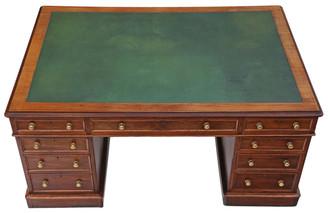 "Antique quality large Victorian C1890 mahogany partner's desk 5' x 3'6"""
