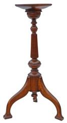 Antique quality beech Art Nouveau torchiere pedestal plant stand