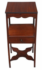 Antique George III C1810 mahogany washstand bedside table