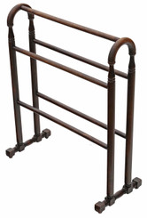 Antique quality Victorian C1900 beech towel rail stand