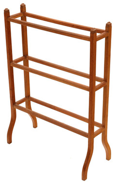 Antique quality Victorian C1900 light mahogany towel rail stand
