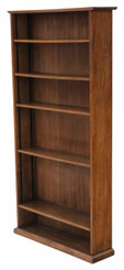Antique quality large adjustable oak bookcase C1920