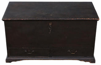 C1800 Georgian scumble coffer or mule chest