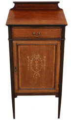 Antique quality Edwardian mahogany music or bedside cabinet table