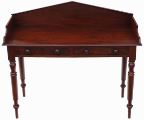Antique William IV C1835 mahogany desk or writing table