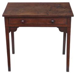 Antique Georgian oak desk writing side table Circa 1800