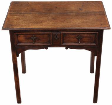 Antique Georgian oak desk writing side table C1800 lowboy