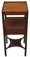 Antique George III C1800 mahogany washstand bedside table Georgian