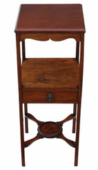 Antique George III C1810 mahogany washstand bedside table Georgian