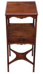 Antique George III C1815 mahogany washstand bedside table