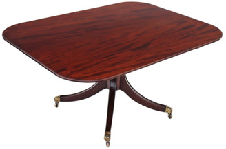 Antique large Victorian mahogany 19th C tilt top loo breakfast table