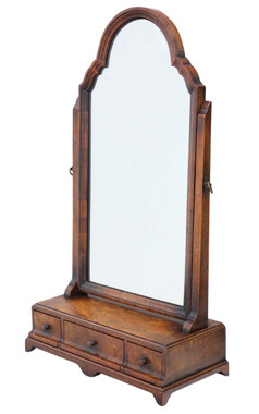 Antique quality Georgian revival mahogany dressing table swing mirror toilet