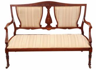 Antique quality Victorian C1880 inlaid rosewood sofa