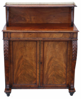 Antique quality small Regency / Victorian mahogany sideboard chiffonier