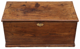 Antique 18th Century elm coffer or mule chest
