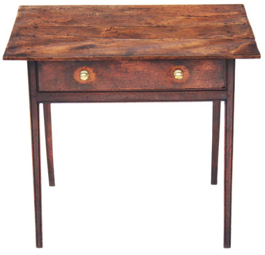 Antique 19C Georgian elm and oak writing table side occasional desk