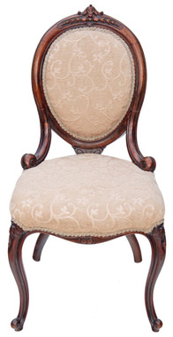 19C Victorian walnut ladies spoon back chair armchair sofa nursing