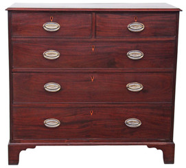 Antique large Georgian mahogany chest of drawers 19th Century
