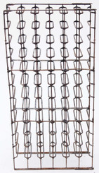 Antique heavy steel / iron wine rack 19C 66 bottles stand