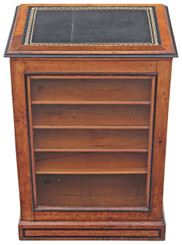 Antique Aesthetic Victorian ash oak glazed library display cabinet lectern