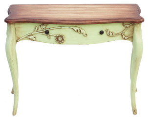 Antique French shabby chic desk writing side dressing table reproduction
