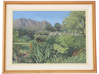 Quality oil on board South African landscape painting Christopher Miers RBA