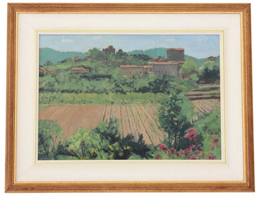 Quality oil on board Italian landscape painting Christopher Miers RBA