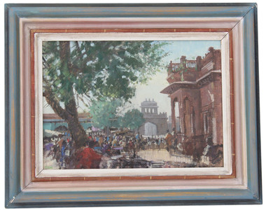 Quality oil on board Jodphur India landscape painting Christopher Miers RBA