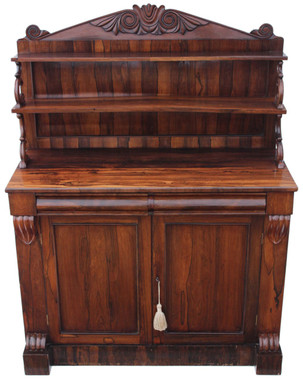 Antique Regency William IV 19C rosewood chiffonier sideboard