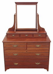 Antique quality Arts and Crafts mahogany dressing table chest of drawers
