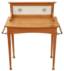 Antique Victorian 19C pine washstand side or dressing table