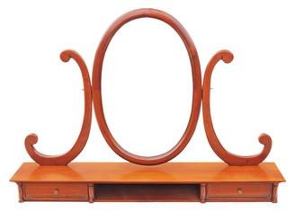 Antique Brigitte Forester John Lewis walnut dressing table mirror