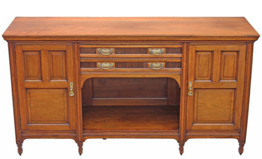 Antique quality large late Victorian walnut chiffonier sideboard