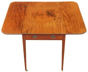 Antique quality inlaid Georgian mahogany Pembroke supper tea side sofa table