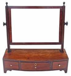 Antique Georgian Regency mahogany dressing table swing mirror toilet
