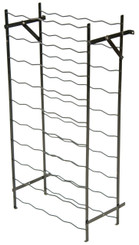 Painted steel wine rack stand large 55 bottle capacity