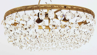 Antique ormolu crystal basket chandelier low ceilings FREE DELIVERY