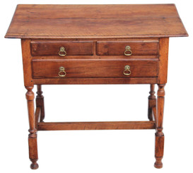 Antique Georgian 18C fruitwood walnut lowboy table side occasional