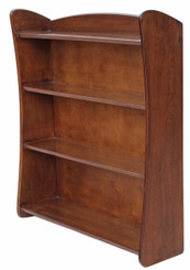 Antique retro teak open bookcase Remploy