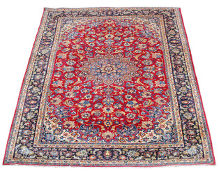 """Antique very large quality Persian hand woven wool rug ~ 13'6""""' x 10'"""