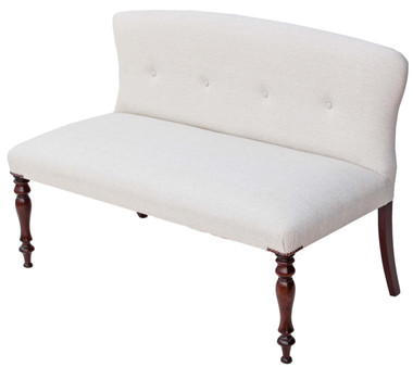 Antique quality Victorian & later mahogany small sofa window seat bench