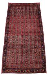 "Antique large quality Persian Quashgai hand woven wool rug ~ 5' x 12' 8"""