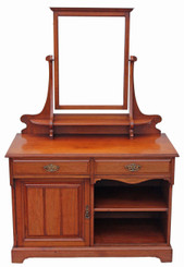 Antique Victorian C1900 quality walnut dressing table