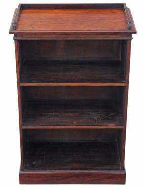 Antique small Victorian C1880 mahogany open bookcase