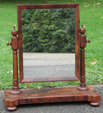 Antique Victorian mahogany swing mirror chest toilet