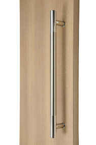 Exterior 316 Grade Ladder Pull Handle - Back-to-Back (Brushed Satin Grip / Polished Chrome Ends)